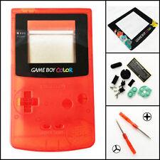 GBC Nintendo Game Boy Color Housing Shell Screen Clear Red Pikachu USA!