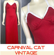Vintage 70s Red Maxi Dress