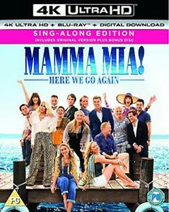 Mamma Mia! Here We Go Again Blu-ray + Digital Download + 4K Ultra HD [DVD]