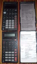 Vintage TI Texas Instruments BA-35 & BA II PLUS with covers and reference cards