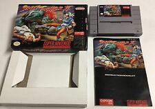 Street Fighter II: The World Warrior (Super Nintendo 1993) Snes CIB Complete Ex+