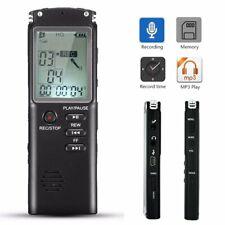 Mini Digital 16GB Diktiergerät Voice Recorder Aufnahmegerät Sprachaufnahme MP3