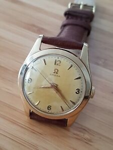 Omega gents watch 9ct gold 1955, Cal 283