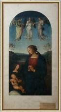 Icona fotolito artistica Medici Society London metà900 Madonna Adorante Perugino