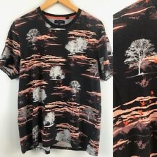 Ted Baker Tee Size 5 Monochrome Stylised trees landscape bird print Hipster