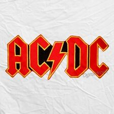 Ac/Dc Red & Yellow Logo Embroidered Big Patch Album Cover for Back Angus Young