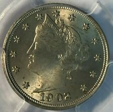 1902 PCGS MS 64 V Liberty Nickel 5C