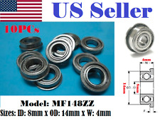 10 Flanged MF148ZZ 8x14x4 8mm/14mm/4mm MF148Z Miniature Ball Ball Bearings