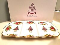 ROYAL ALBERT Old Country Roses Holiday Divided SERVING TRAY Rectangular Plate