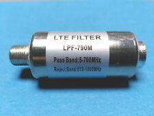 Filtro LTE blindado interior conectores F,rechaza frecuencias 4G Filtre LTE 4G