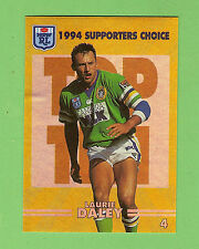 1994 SERIES 2  CANBERRA RAIDERS RUGBY LEAGUE GOLD CARD #4  LAURIE DALEY