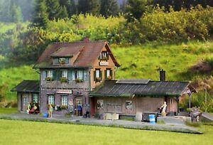 ☝️Diorama H0 1:87 Kibri Bahnhof Maienfeld Top Patiniert Modellbau aus Potsdam