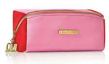 Juicy Couture oui pink red faux leather makeup bag cosmetic pouch travel case