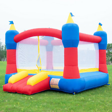 Inflatable Bounce House Magic Castle without Blower Backyard Party Safe Outdoor