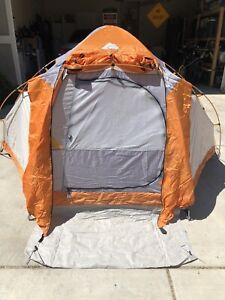 Camping Tent 2 Person 9ft x 8ft Hexagonal Sport Dome Ozark Trail Gray Orange
