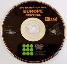 Toyota Lexus Original Navigation DVD e1g 2018 Central Europe centrale Update Map!