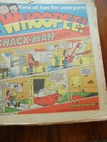 JOB LOT X 8 WHOOPEE ! AND WOW 1980'S  UK PAPER COMIC LOT 1 AND MONTHLY