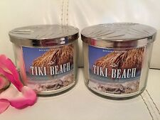 2 Bath & Body Works Tiki Beach 14.5 OZ 3 Wick Candle Sold Out