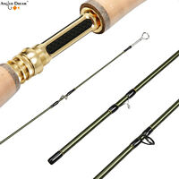 3/4 5/6 7/8WT Fly Rod 9FT Fast Action Carbon Fiber Fly Fishing Rod &Cordura Tube