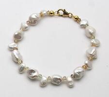 Perlenarmband Keshiperlen mit Zirkon Armband für Damen 19,5 cm