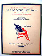 Original 1935 How To Display and Respect The Flag Of The U.S. Booklet, Moss