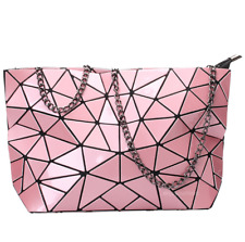 Women Geometric Shoulder Bag Handbag Purse Messenger Tote Satchel Bags - Pink