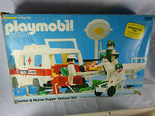 Playmobil Schaper USA 1803 Doctor & Nurse Super Deluxe Set Klicky Box