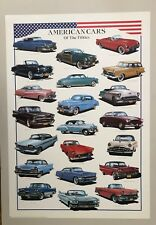 AMERICAN CLASSIC CARS OF THE 50's BY L. PATRIGNANI, AUTHENTIC 1998  POSTER
