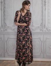 Victorian Trading Co NWOT April Cornell Raven Rose Black Floral Dress XL 13C