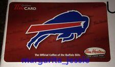 TIM HORTONS US GIFT CARD BUFFALO BILLS NFL FOOTBALL 2012 NO VALUE FD30663 NEW