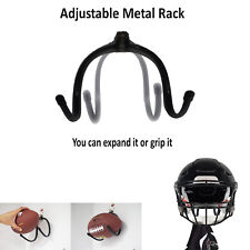 Football Display Rack Case Rubber Protection,Metal Finish for Helmets & Clothes