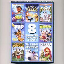 8 Animated PG family kids movies new DVDs Sea Rock Race Pup Kiara Jungle Bernard