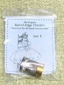 Raised Edge Thimble Size 8 Gold Silver by Needleart Guild