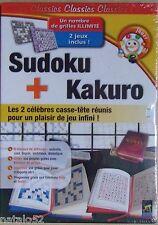 CLIC & GO - SUDOKU + KAKURO - jeu PC