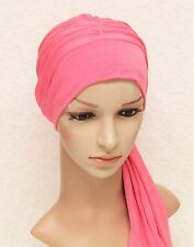Turban snood, chemo head wear, head covering for hair loss, turban with ties