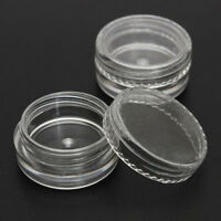 50pc Clear Plastic Cosmetic Sample Container 5 Grams Jars Pot Small Empty HOt;