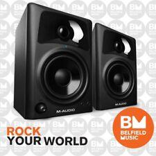 """M-Audio AV42 Desktop Powered Media Speaker Monitors 4 Inch Driver 4"""" AV-42"""