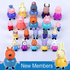 20pcs Peppa Pig Family Friends Emily Suzy Action Figure Play set Toy cake topper