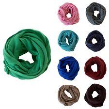 100% Cashmere Seafoam Green Infinity Scarf Neck Pashmina Cowl Women Wool Soft