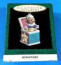 "Hallmark ""Baby's First Christmas"" Miniature Ornament 1993"
