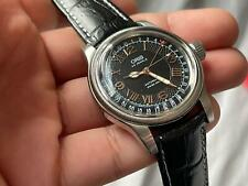 Oris Pointer 25 Jewels Roman Numbers Black Dial Automatic Gents Watch