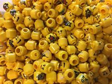 Lego Minifigure Bulk Lot of 100 Yellow Heads Male Female Mixed Lot