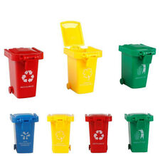 4Pcs/Set Mini Trash Garbage Can Recycling Container Vehicle Bin Kids Playing Toy