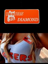 Hooters Girl Uniform Diamond Name Tag Pin Halloween costume