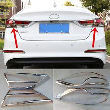 For 2017 18 Hyundai Elantra Avante Chrome Rear Tail Light Lamp Cover Trim Bezel