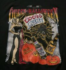 Vintage Daisy Fuentes Coors Light Queen of Halloween T-Shirt Beer Red Lobster