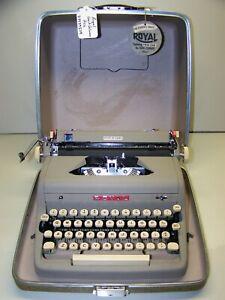 Antique 1957 Royal Quiet DeLuxe Vintage Typewriter #AD-3539379