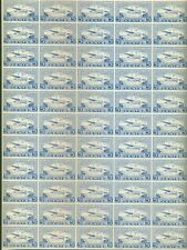 CANADA #CL44 1928, 5¢ British Columbia Airways Complete Pane of 55, og, NH, VF,