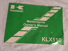 OEM Kawasaki Motorcycle Owners Manual  2001 KLX110 99987-1089
