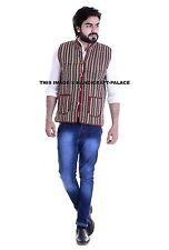 Indian Cotton Coat Ethnic Jacket Overcoat Machine Quilted Reversible Man Blazer